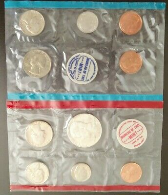 1969 US MINT TREASURY DEPARTMENT COIN'S UNCIRCULATED SET 40% Silver half dollar