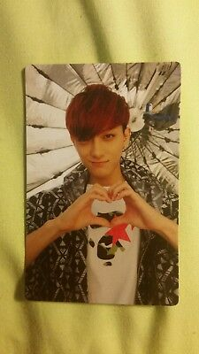EXO EXO-K Tao Taiwan Ver Growl Ver B OFFICIAL PHOTOCARD Card KPOP K-POP