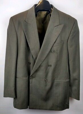 Vito Rufolo Men's Size 44 R  Italy 100% Wool Gray Double Breasted Suit