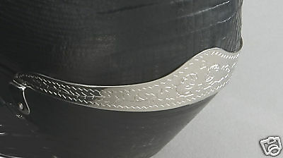 New! Western Cowboy Boot Heel Guards - Silver Engraved