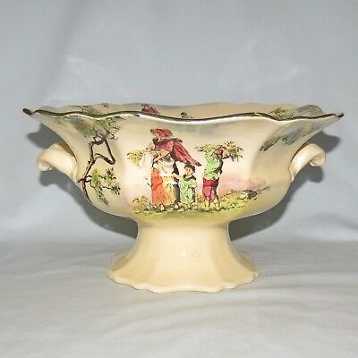 Royal Doulton Old English Scenes The Gleaners Twin Handled Centrepiece