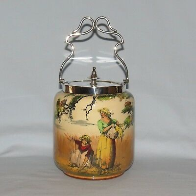 Royal Doulton seriesware Gleaners and Gypsies biscuit barrel D3191