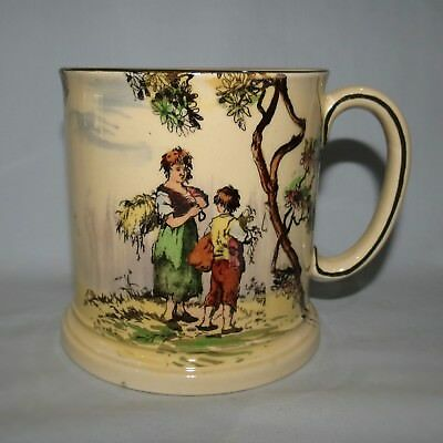 Royal Doulton Old English Scenes The Gleaners Cylindrical Mug