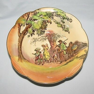 Royal Doulton Old English Scenes The Gleaners Lobed Fruit Bowl