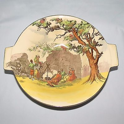 UNUSUAL Royal Doulton art deco shape Gleaners and Gypsies bowl D4983