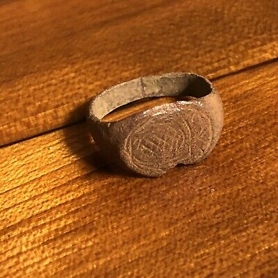 Rare Ancient Medieval Wedding Ring Roman Byzantine European Jewelry Artifact 4