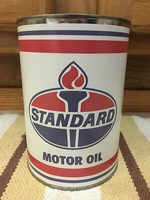 Standard Motor Oil Can 1 Quart Gas Sign Reproduction Vintage Style