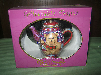 My Treasure Hand Painted Genuine Porcelain Collectable Teapot stock #11072 2001