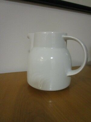 ELEGANT VERSATILE White Water Jug  SIGNED BAUSCHER WEIDEN ,GERMANY ,WAVE DESIGN