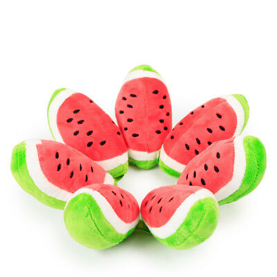 Squeaky Dog Toys for Small Medium Dogs Fruits Plush Puppy Dog Toys  Chew Toy