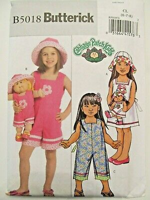 Vintage Sewing Pattern_Butterick 5018_Girl + CABBAGE PATCH Doll Outfit_6-8_UNCUT