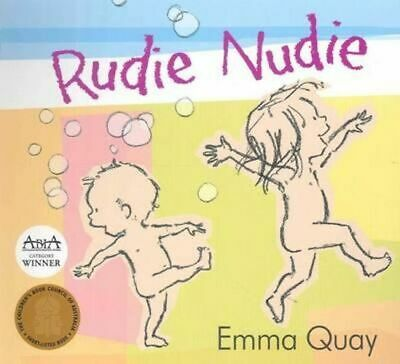NEW Rudie Nudie By Emma Quay Board Book Free Shipping