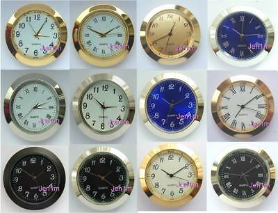"37mm (1,15/32"") Clock/Watch inserts fits 34mm hole/ free spare battery"
