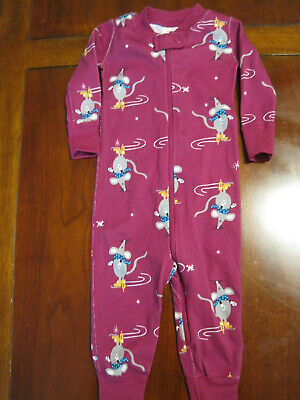 Hanna Andersson Baby Girl Blue Purple Sleeper Pajamas Size 70 One Piece No Feet Sale Price Clothing, Shoes & Accessories