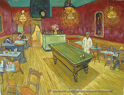 """""""The Night Cafe"""" van Gogh,  Reproduction in Oil,  36""""x28"""""""