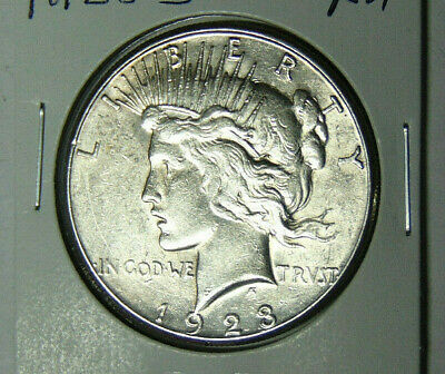 AU 1923-S Peace Silver Dollar About Uncirculated San Francisco Mint (32019)