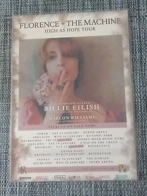 Florence + The Machine - 2019 High As Hope Tour -  Laminated Promo Tour Poster !