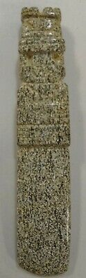 Pre-Columbian Large Carved Stone  Axe God Pendant - Costa Rica ~ 300BC-500AD