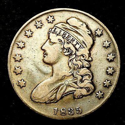 1835 ~**HIGHER GRADE**~ Silver Capped Bust Half Dollar Antique US Old Coin! #112