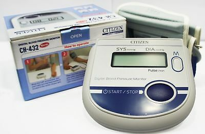 orignal citizen ch-432 Digital arm blood pressure monitor Large LCD+features