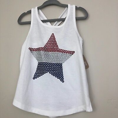 GIRL/'S XL CRAZY 8 PINK AND WHITE STRIPED BOW SLEEVE TANK NEW NWT #6432