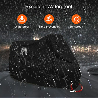 Motorcycle Cover Waterproof Outdoor Rain Dust UV Scooter Motorbike Protector XL