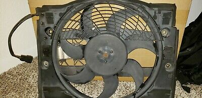 BMW E46 3-Series Auxiliary AC Cooling Electric Fan with Shroud 1999-2006 OEM
