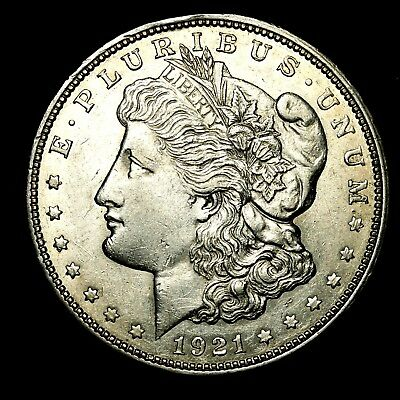 1921 D ~**ABOUT UNCIRCULATED AU**~ Silver Morgan Dollar Rare US Old Coin! #H69