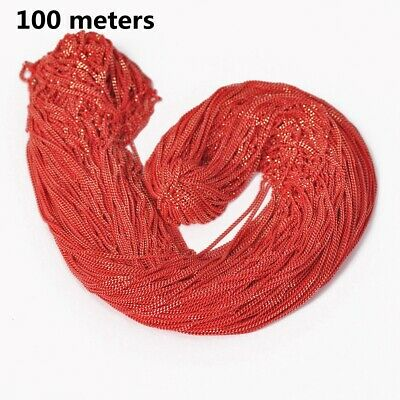 7colors 100meters Red Brass Open Link Metal Chains DIY Jewelry Making Findings