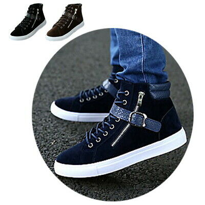 Fashion Men High Top Flats Lace Up Board Shoes Casual Sneakers Trainers Boots
