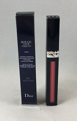 Rouge Dior Liquid SATIN Lip Stain 557 SWEET SATIN .20 Fl Oz New in Box