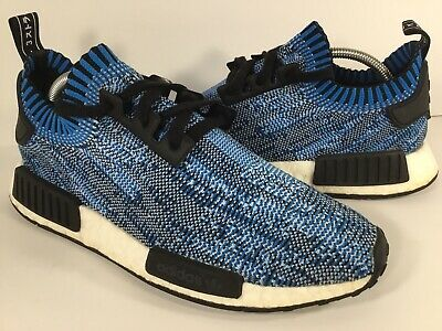 finest selection d1ac0 9b39b ADIDAS NMD R1 Blue Camo Black White Boost PK Mens Size 9 Rare BA8598