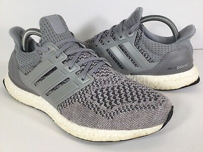 size 40 27df6 33461 ADIDAS ULTRA BOOST 1.0 Wool Grey White Black PK Mens Size 8 Rare S77510