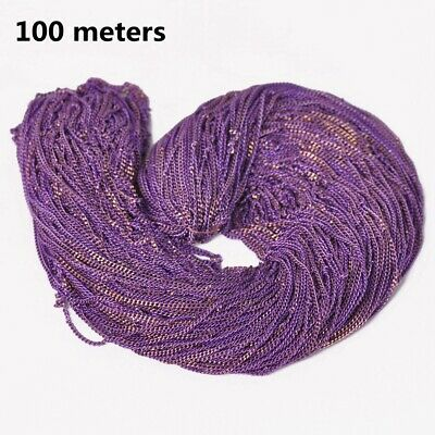 7colors 100meters Purple Brass Open Link Metal Chains DIY Jewelry Making Finding
