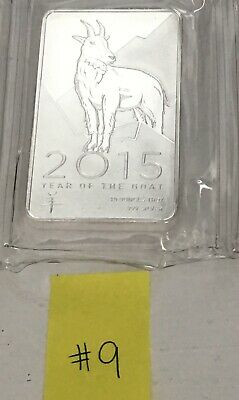 10 Troy oz of .999 Fine Silver 2015 Year of the Goat