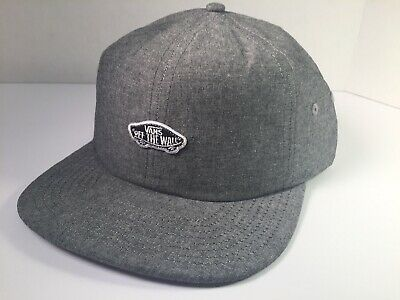 318e4107616 Vans Off The Wall Jocky Adjustable Strapback Skate Dad Hat Cap Heather Gray  NWT