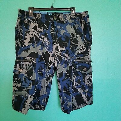 Darring Mens Cargo Moto Shorts Size 34W/26L Camouflage Style