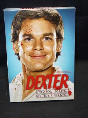 Dexter - The Complete Second Season (DVD, 2008, 4-Disc Set) Like New!