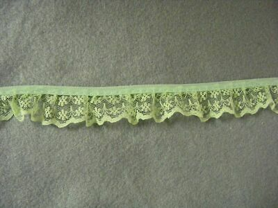 Gathered  Mint Green  Lace 2.1 metres  (133)