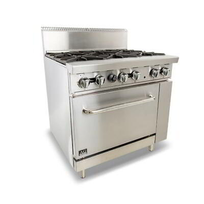 Six Burner Gas Cooktop Range with Oven - 914mm width - Natural Gas