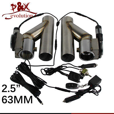 """BadlanzHPE Electric Exhaust Cutout /""""Low Profile/""""  DUAL 2.75/"""" 70mm  5 YEAR WNTY!"""