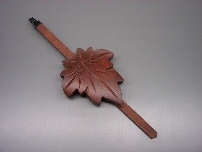 NEW MAPLE LEAF WOOD CUCKOO CLOCK PENDULUM - cookoo coo coo service repair parts