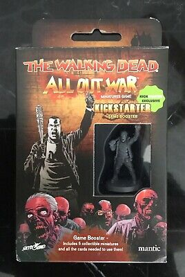 "WALKING DEAD ""All Out War"" NEGAN EXCLUSIVE KICKSTARTER BOOSTER Michonne Abraham"