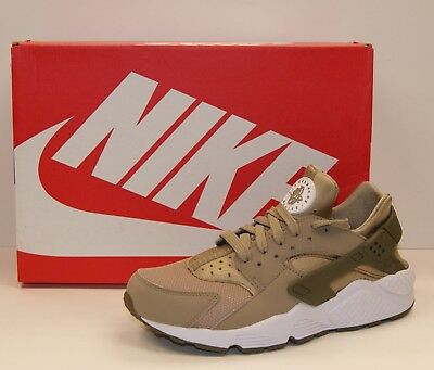 official photos 83a85 d5010 NIKE AIR HUARACHE Khaki Olive White Men s Running Shoes 318429-200 Brand New