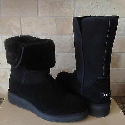 92a0d0e05cc UGG AMIE CLASSIC Slim Wedge Black Suede Water Resistant Women's ...