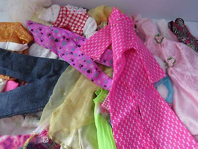 Huge Lot Of Barbie And Same Size Clothing For Play Collection Re-Sale Etc