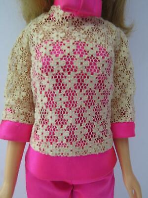 Vintage Barbie Doll Francie Satin Happenin #1237 Jumpsuit +Lace Top 1970