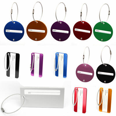 Travel Luggage Bag Tag Metal Suitcase Identifiers Office Name Address ID Label