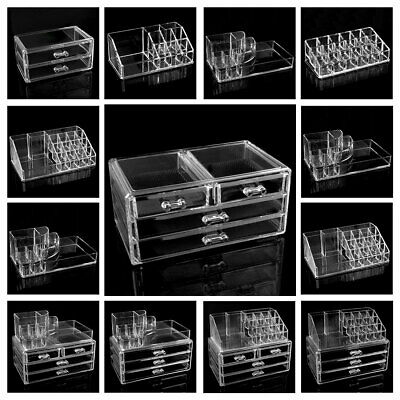 Clear Acrylic Lipstick Liner Brush Holder Jewelry Storage Cosmetic Display Box