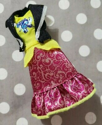 EVER AFTER HIGH DOLL CLOTHING FIRST 1ST CHAPTER BUNNY BLANC GREEN CLOCK DRESS